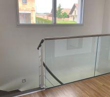 Couloir Garde corps en verre