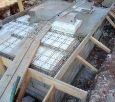 Bassin de retention en cours coulage du plancher
