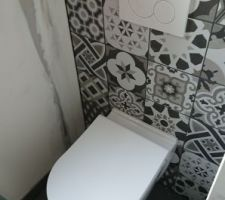 WC suspendu de l'étage
