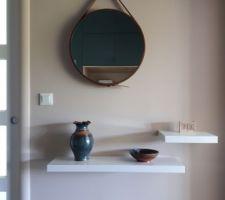 Mure repeint et miroir baissé