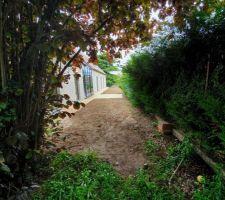 Terrassement fait aussi pour le jardin nord