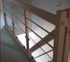 Garde corps escalier posé