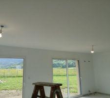 Plafond séjour terminé