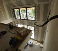 Bandes terminées - Palier mezzanine - futur escalier