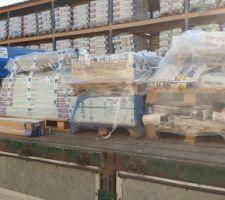 Recuperation de la commande chez decoceram 3 tone de mateiaux en tous