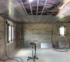 Pose du systeme de chauffage plafond rayonnant plafino