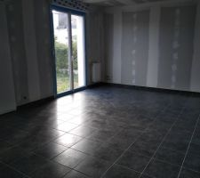 Carrelage gris anthracite
