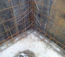 Fondation en pied de mur et coffrage mur sous-sol
