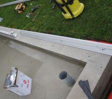 Mise en place ru rail au sol étanchéité