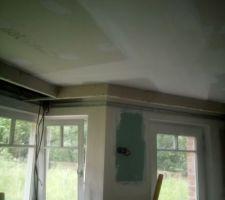 Faux  plafond cuisine en cours