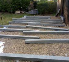 Présentation des poteaux beton (heureusement que le diable était là ;)