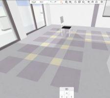 Simulation de rendu du marmoleum click