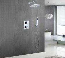 Colonne de douche encastrée thermostatique