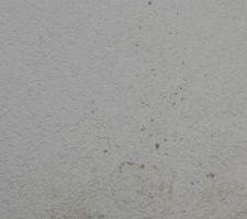 Projection de béton sur le crépis de notre maison