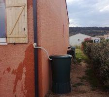 2eme récupérateur d'eau : seul problème, pas de pluie depuis 3 mois