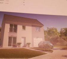 Le modèle de maison sauf que mon garage sera à gauche et non à droite