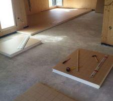 Pose isolant (Unilin Utherm Floor) 1ère couche