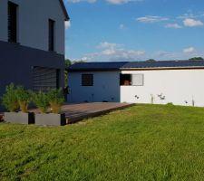 Terrasse et plantations finies