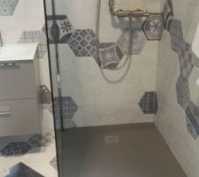 Carrelage salle de bain parental