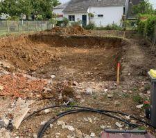 Excavation maison