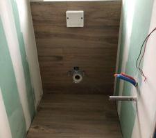 Faiences sur les caissons des WC