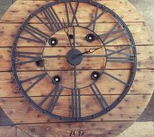 """Horloge """"Au temps tic"""" 90cm"""