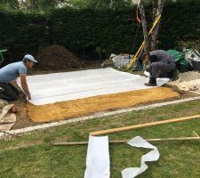 Creation de la dalle pour l?abri de jardin