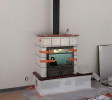Pose de notre poêle Alsacien modèle alphastar ORFEO de chez Oliger à saint Louis 67
