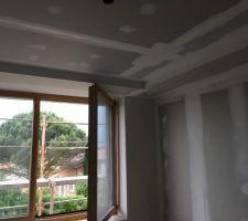 Plafonds et coffrage des gaines de ventilation