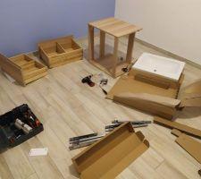 Montage meuble sdb