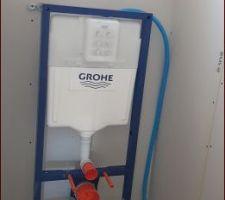 Bâti WC suspendu du bas