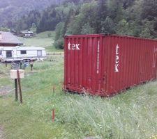 Container n°2 en place.