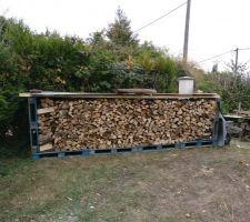 Pendant l'installation, je range le bois !