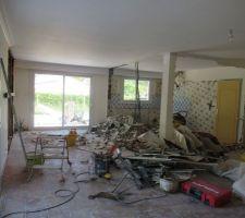 Démolition du mur entre la cuisine et le salon (enfin DES murs)