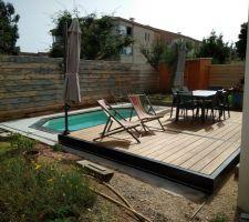 Ensemble piscine + terrasse (ouverte)