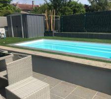 Travaux piscine et maintenant on profite par cette chaleur