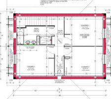 Plans définitifs / Etage / Sud a droite