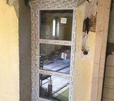 La porte pour l'acces à la terrasse