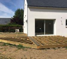 Préparation structure terrasse