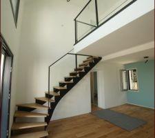 Escalier en place - détails