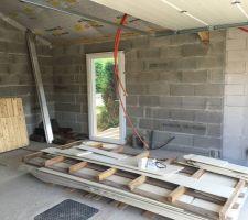 Le garage et son isolation de toit - avant