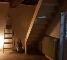 Grande maison: nouvel escalier qui donnera accès à la mezzanine