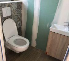 WC suspendus entrée