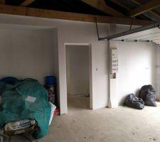 Peinture finie dans le garage