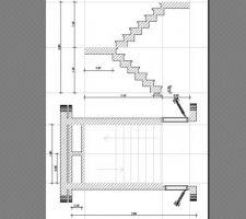 gros plan de l escalier pour me confirmer qu il passe