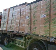 Livraison isolant fibre bois semi rigide pavaflex