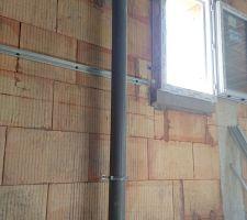 Eaux-vannes pour les WC de l'étage relié au ventail