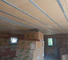 Isolation sous le toit en fibre de bois semi rigide