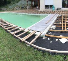 Petit côté de la piscine
