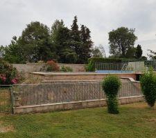 Vue d ensemble piscine côté nord